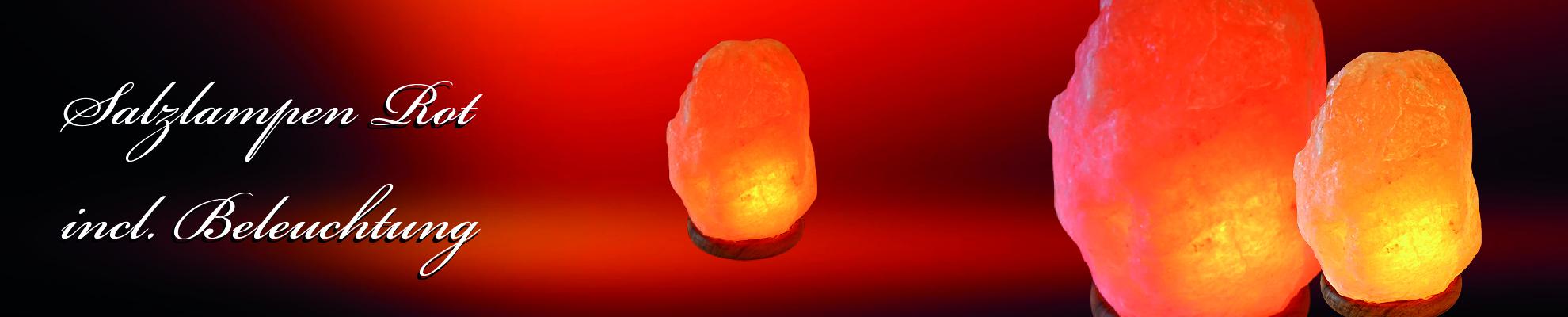 Banner Salzlampe Rot 7-10 kg